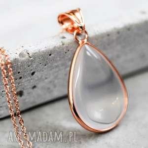 opal naszyjnik różowe złoto - opal, naszyjnik, kolor, siła, kamień