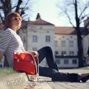 prl lady in red marine, red, leather, sznur, bawełniany, marynarski, marine torebki