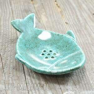 Mydelniczka ryba ceramika pracownia ako mydelniczka, łazienka