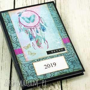 kalendarz książkowy 2019- dreams, kalendarz, książkowy, a5, łapacz, snów, 2019