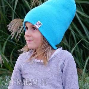 ręcznie robione czapki błękit do wynajęcia