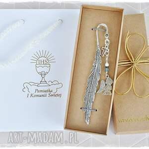 hand-made prezenty święta prezent na komunię św. Dla chłopca - zakładka