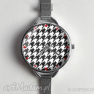 ręcznie zrobione zegarki pepitka zegarek z dużą tarczką - 0875ws