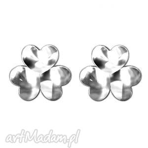 ręcznie robione kolczyki srebrne kolczyki koniczynki