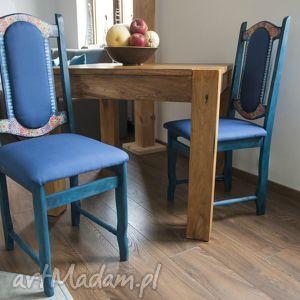 dom krzesła folkowe, krzesła, decoupage, folk, recycling, drewniane, świąteczny