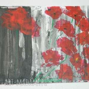 święta, maki-obraz 80x60, nowoczesny obraz, obraz do salonu, maki
