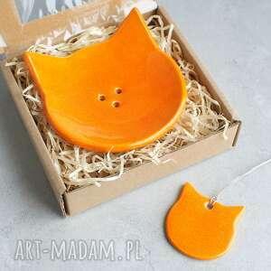 Rudy kot - mydelniczka ceramiczna ceramika pracownia ako