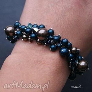 sza bransoletka z pereł swarovski monle - biżuteria, perły