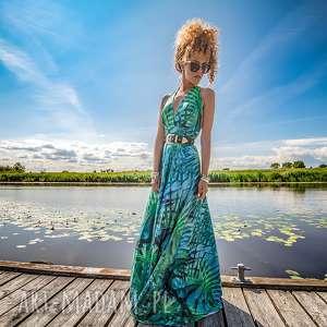 sukienki paloma - letnia suknia, barwna, długa, wygodna