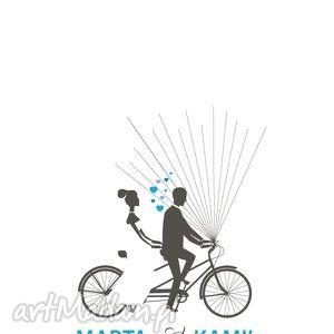 rower wpisów gości weselnych - plakat na zamówienie, księga, gości, ślub, wesele