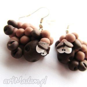 ręcznie wykonane kolczyki kolczyki czekoladowe owieczki