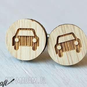 spinki do mankietów auto - drewniane, spinki, mankietów, bambus, ekologiczne