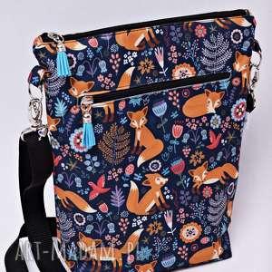 na ramię torebka listonoszka liski w lesie, torebka, listonoszka, damska