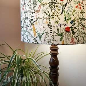 abażur dekoracyjny do lampy stołowej kwietnik, w kwiaty