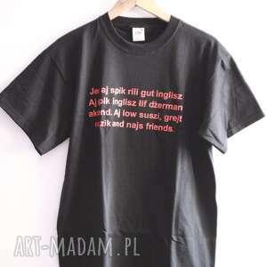 ręczne wykonanie koszulki jes i spik rili gut inglisz