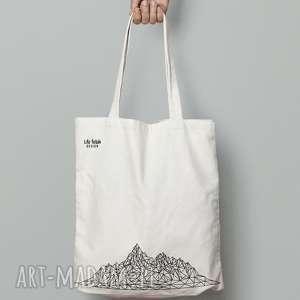 torebki torba z górami, góry, torba, eko, lowpoly, design