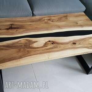 stoły stolik kawowy, ława z orzecha, żywica - rzeka, stółkawowy, ława, orzech