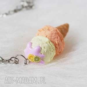 soczysty wakacyjny naszyjnik lody - naszyjnik, soczysty, wakacyjny, modelina, lody