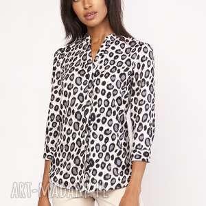 Lekka koszula o luźnym kroju, K111 panterka, casual, luźna, wzór,