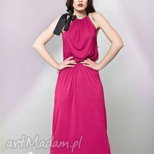 handmade sukienki długa sukienka z kokardą