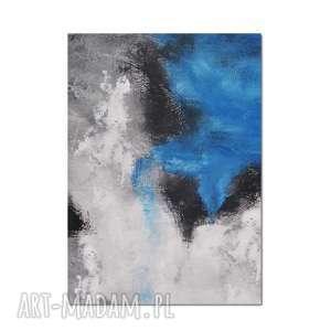 Blue lagoon, abstrakcja, obraz ręcznie malowany, obraz, ręcznie, abstrakcja