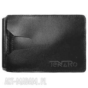 handmade portfele banknotówka, portfel skórzany czarny