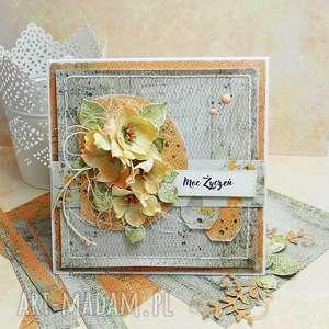 Moc Życzeń- kartka z pudełkiem, scrapbooking, imieniny, urodziny,