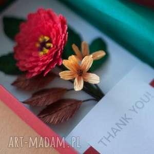 hand made scrapbooking kartki karteczki 3d na podziękowania