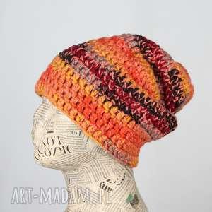 ręczne wykonanie czapki kolorowa czapka unisex uniwersalna beanie 015