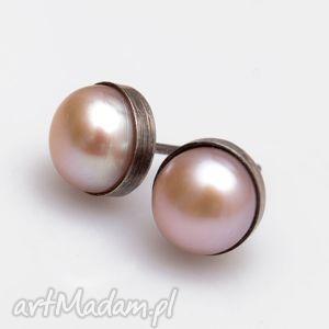 A403 Drobinki z perłami - kolczyki srebrne, kolczyki, perła