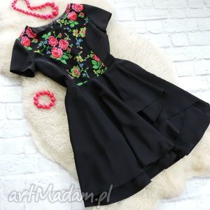 Sukienka góralskie kwiaty folk, sukienka, kwiaty, cleo, góralska, ludowa