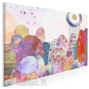 obraz na płótnie - pejzaż kolorowy kule - 120x80 cm (82001)