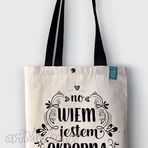 torba no wiem, jestem okropna, napisy, bawełna, ekologiczna, zakupy, prezent, święta