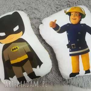 maskotki poducha strażak sam i batman, poduszka, prezent, sam