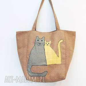pod choinkę prezenty, torba na zakupy koty, krata, zakupy