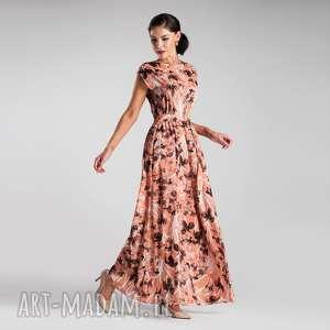 sukienka nerea maxi dominique, sukienka, maxi, lato, elegancka, pasek