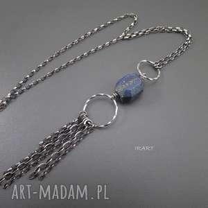 Wisior - lapis lazuli, lapis, srebro