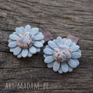 Spineczki do włosów kwiatuszki baby BLUE, spineczki, baby, filc