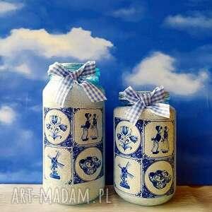 dekoracja w stylu holenderskim komplet słoiczków z kolekcji - rękodzieło