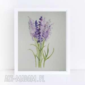 paulina lebida lawenda-akwarela formatu 18/24 cm, akwarela, papier, farby