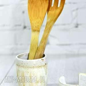 Zestaw kuchenny - pojemnik na przybory kuchenne oraz zmywak