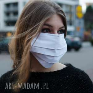 biała maseczka medyczna ochronna z bawełny 5 szt, medyczna, bawełna, maska
