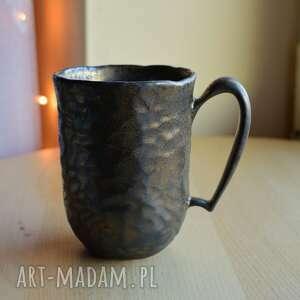 Kubek ceramiczny rzeźbiony rustykalne złoto 300 ml kubki