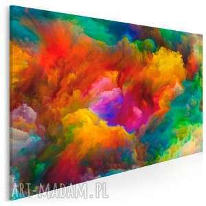 obraz na płótnie - kolorowe chmury 120x80 cm 22001, chmury, kolory, dym