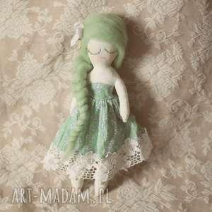 wiosenna bajka - zielona wróżka, lalka, bajka, sukienka, kwiatuszki, kokardka
