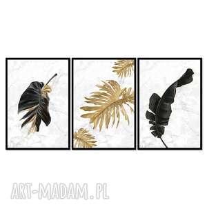 Obrazy w ramie liść 3r - 84x40cm na płótnie kwiaty obraz natura
