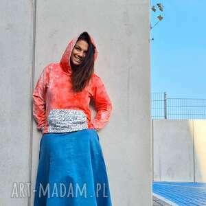 spódnice zamszowa spódnica, zamszowa, boho, błekitna, jesienna, modna stylizacja
