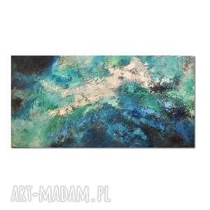 głębia 28, abstrakcja, nowoczesny obraz ręcznie malowany, obraz, ręcznie, malowany