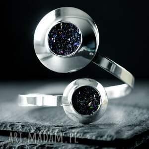 duża srebrna bransoletka glamour, masywna bransoleta z polerowanego srebra