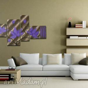 obraz magnolie 14 - 130x70cm fioletowe, magnolie, obraz, fioletowe